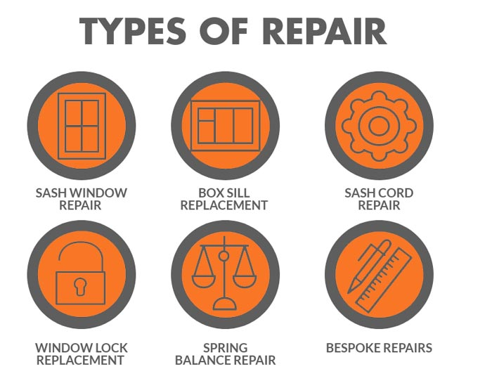 types of sash window repair by SJB sash specialist